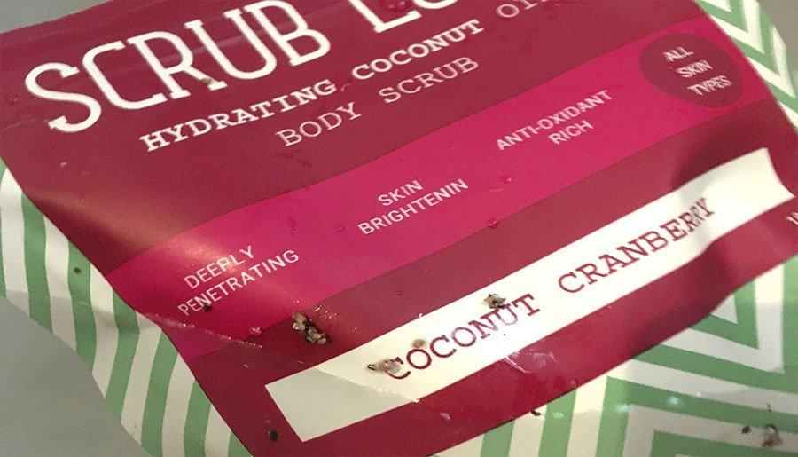 scrub love bañera exfoliante natural coco y arándanos cosmetica organica 2
