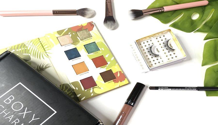 boxycharm junio alamar cosmetics reina del caribe palette pestañas postizas luxie brochas jontenblu ofra labiales 6